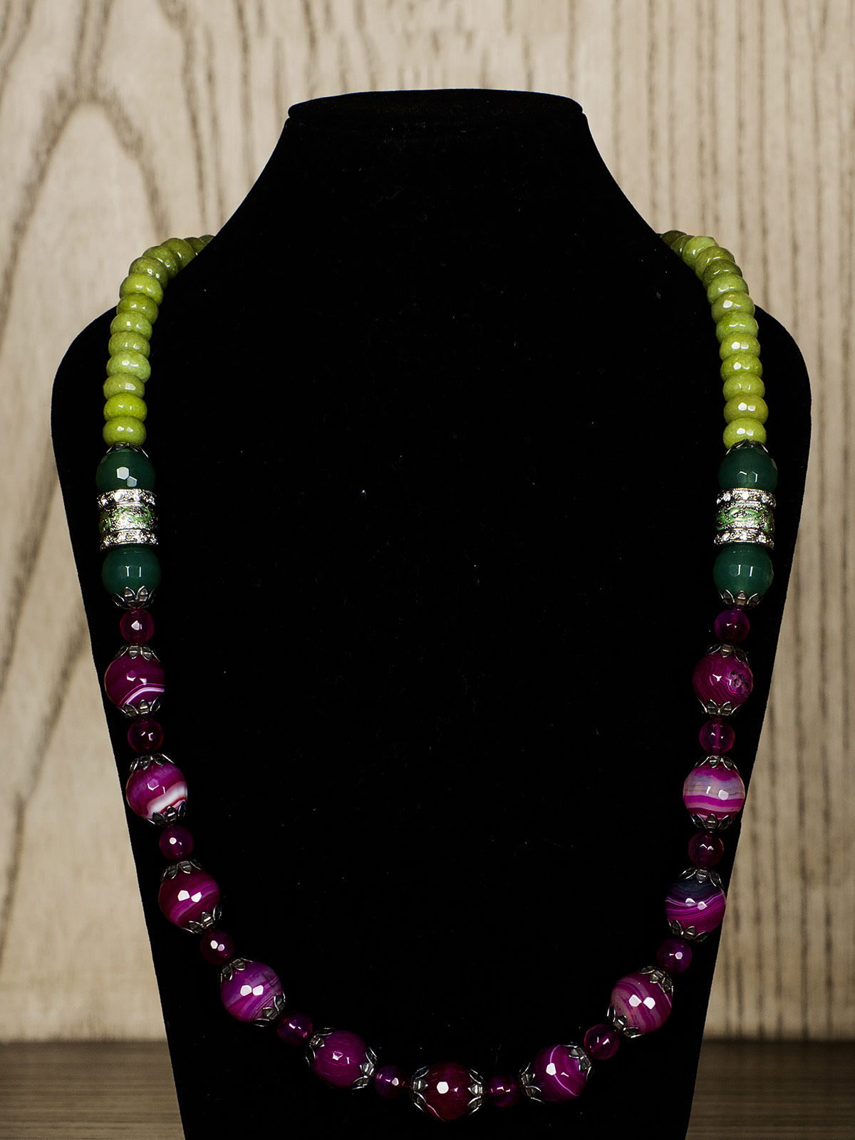 Purple Semiprecious Stone Necklace
