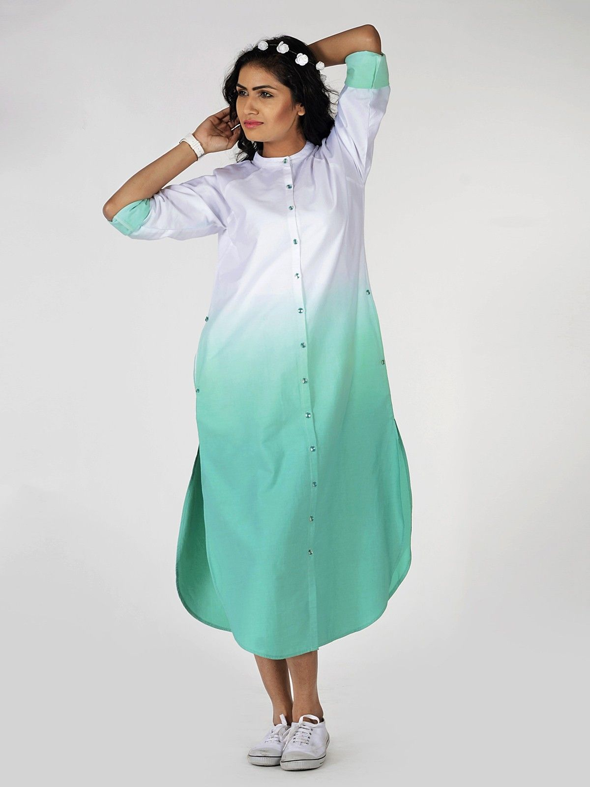 Tiffany Ombre Shirt Dress