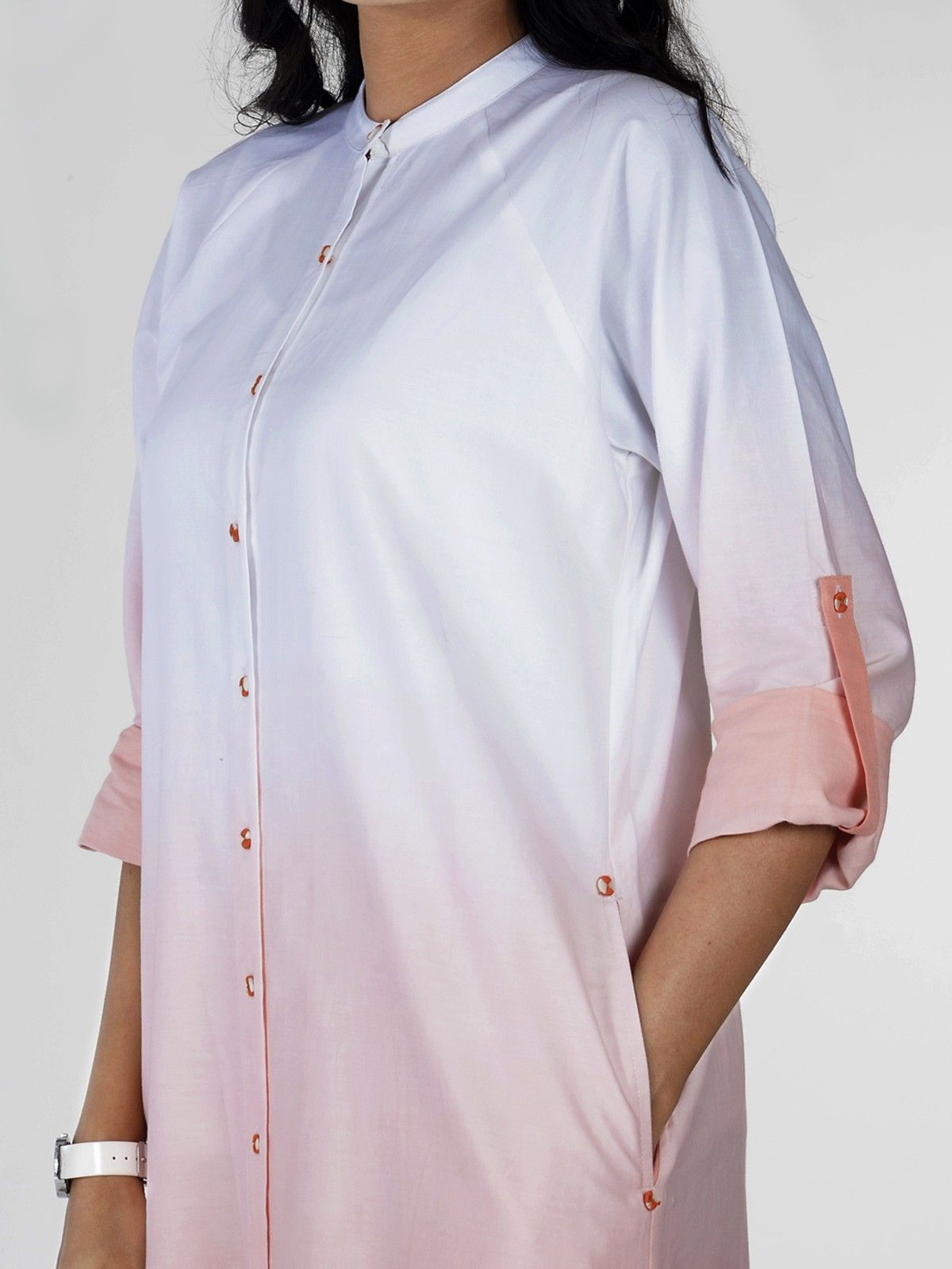 Cantaloupe Ombre Shirt Dress