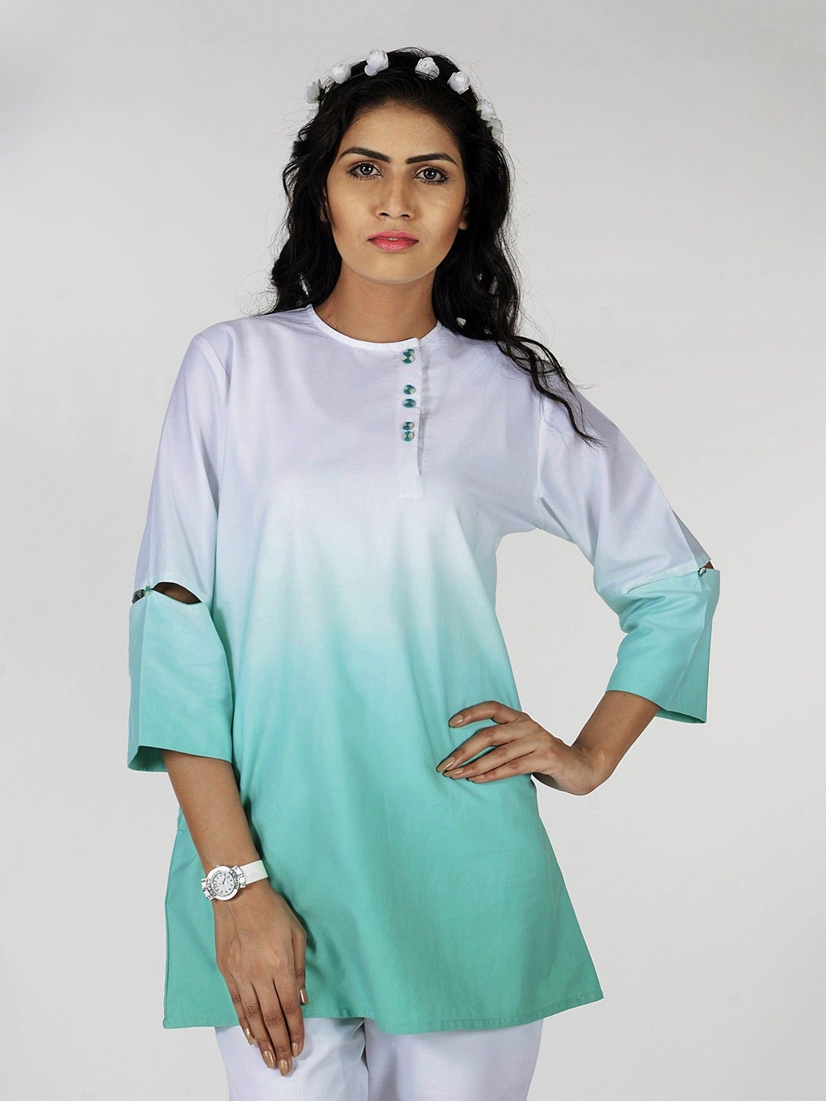 Maldives Mint Ombre Top