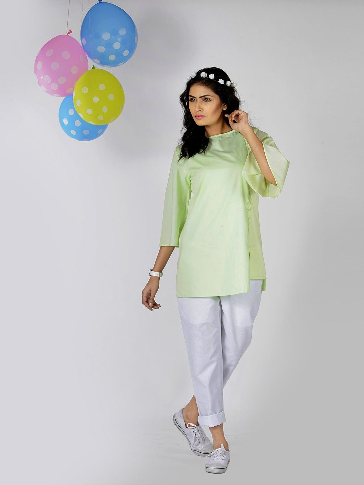 Lime Twist Cotton Top