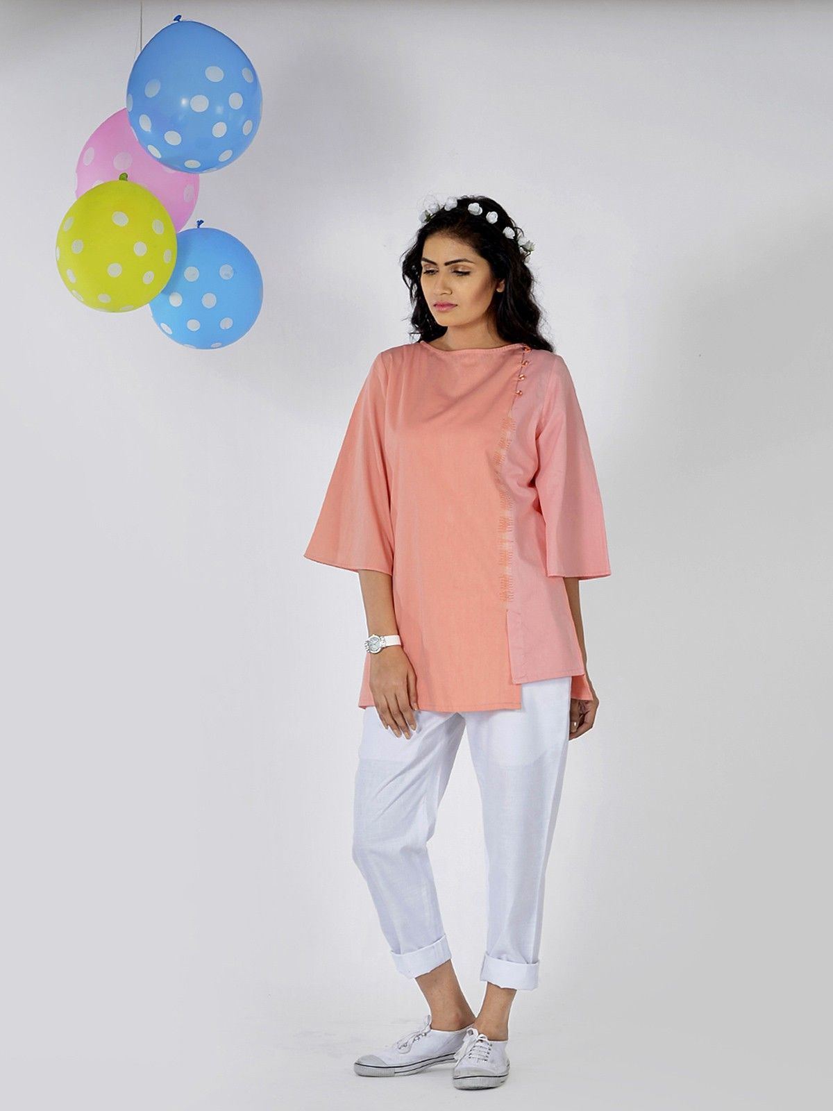 Peach Kiss Cotton Top