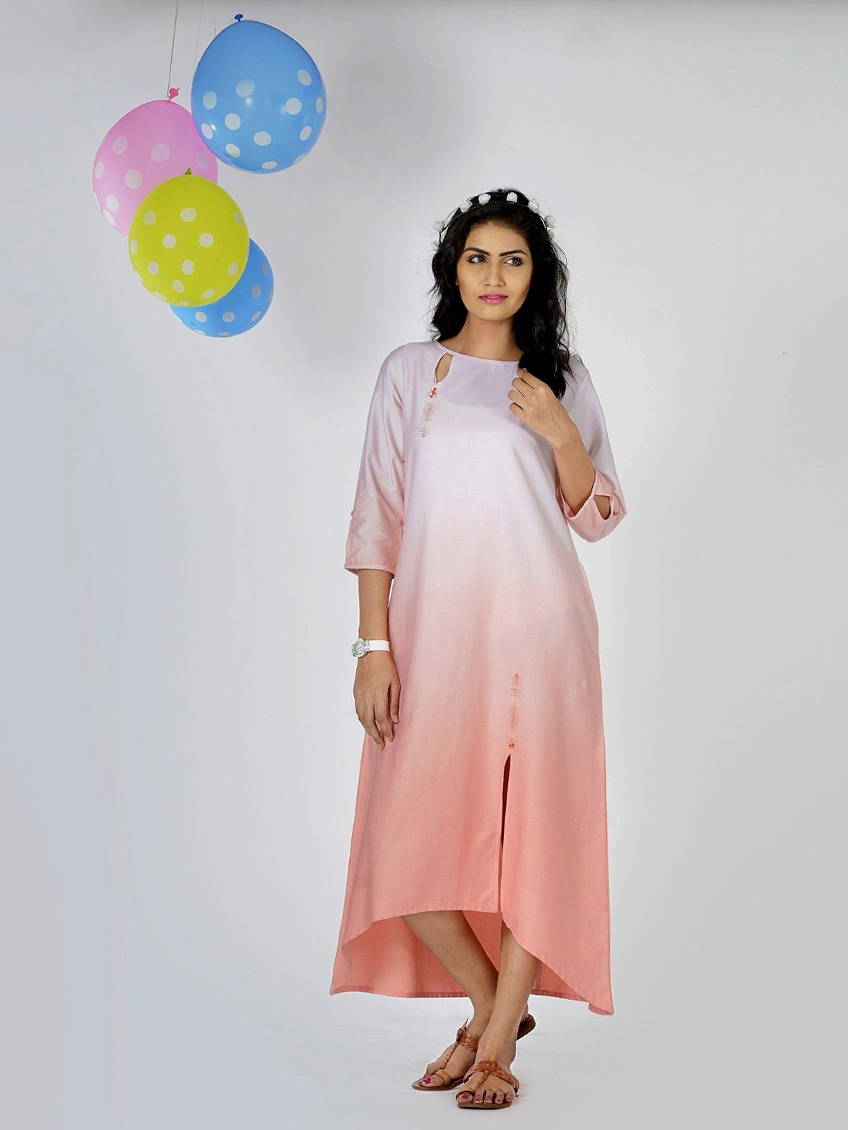 Misty Rose Ombre Tunic