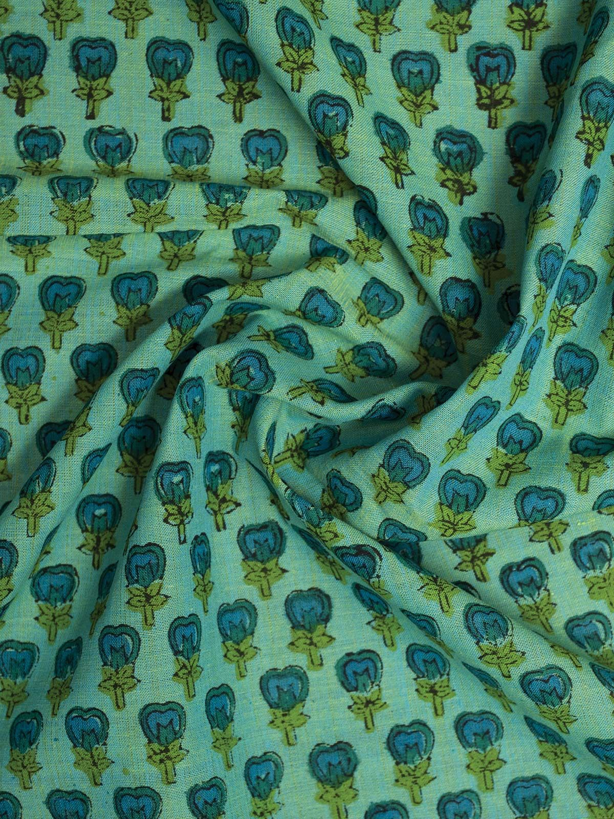 Green Mangalgiri Cotton Fabric