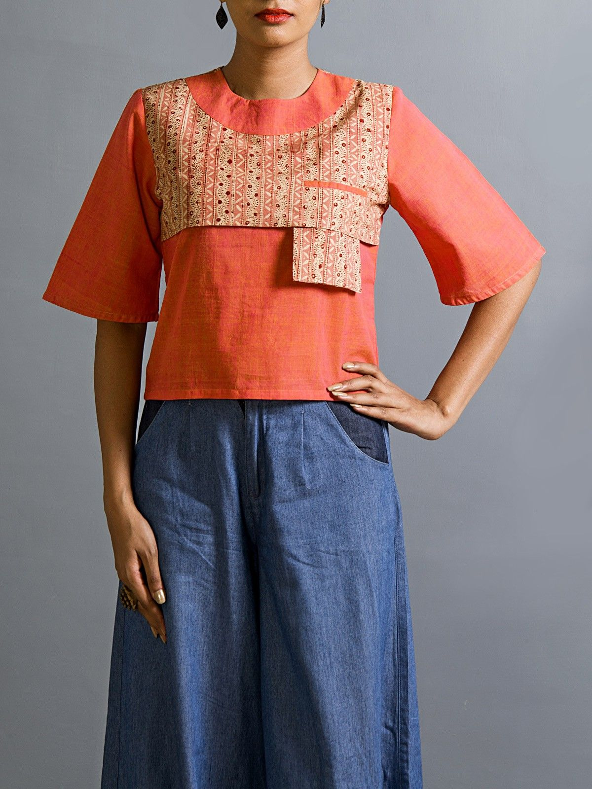 Apadi satchel crop top