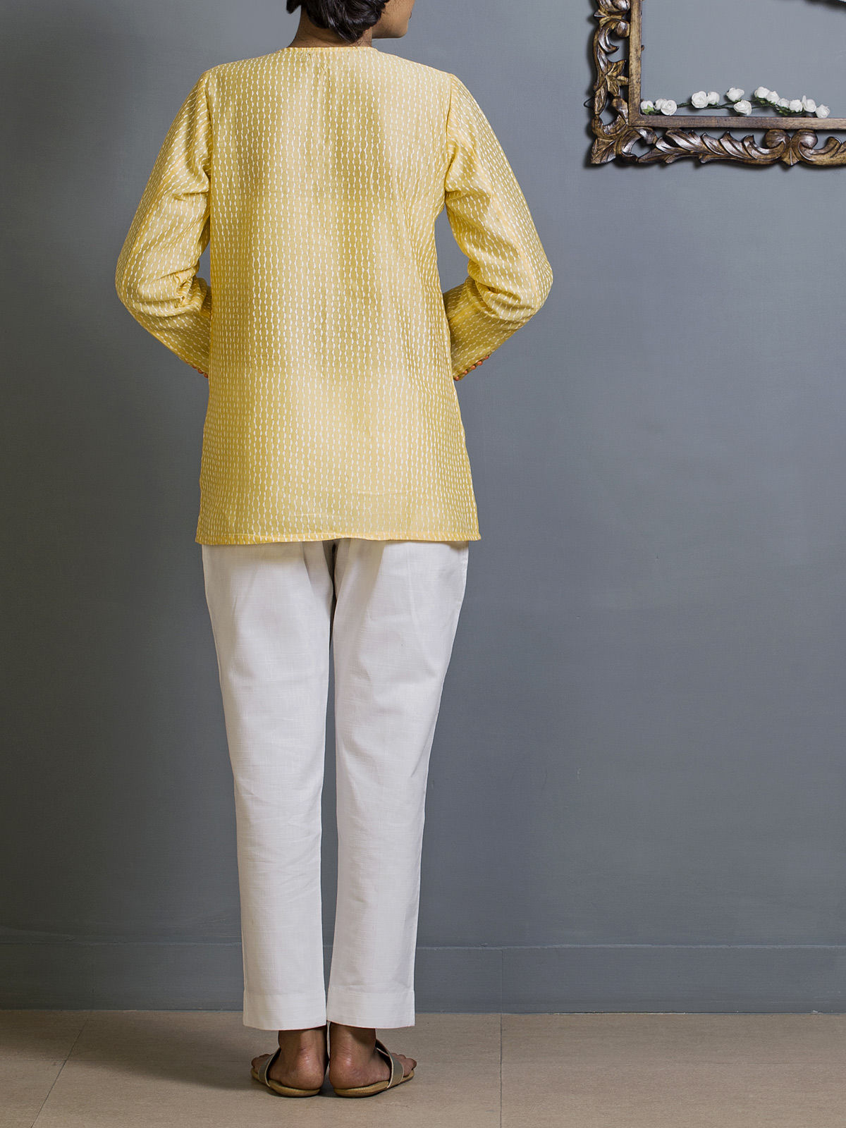 Canary Yellow Chanderi Ethnic Top