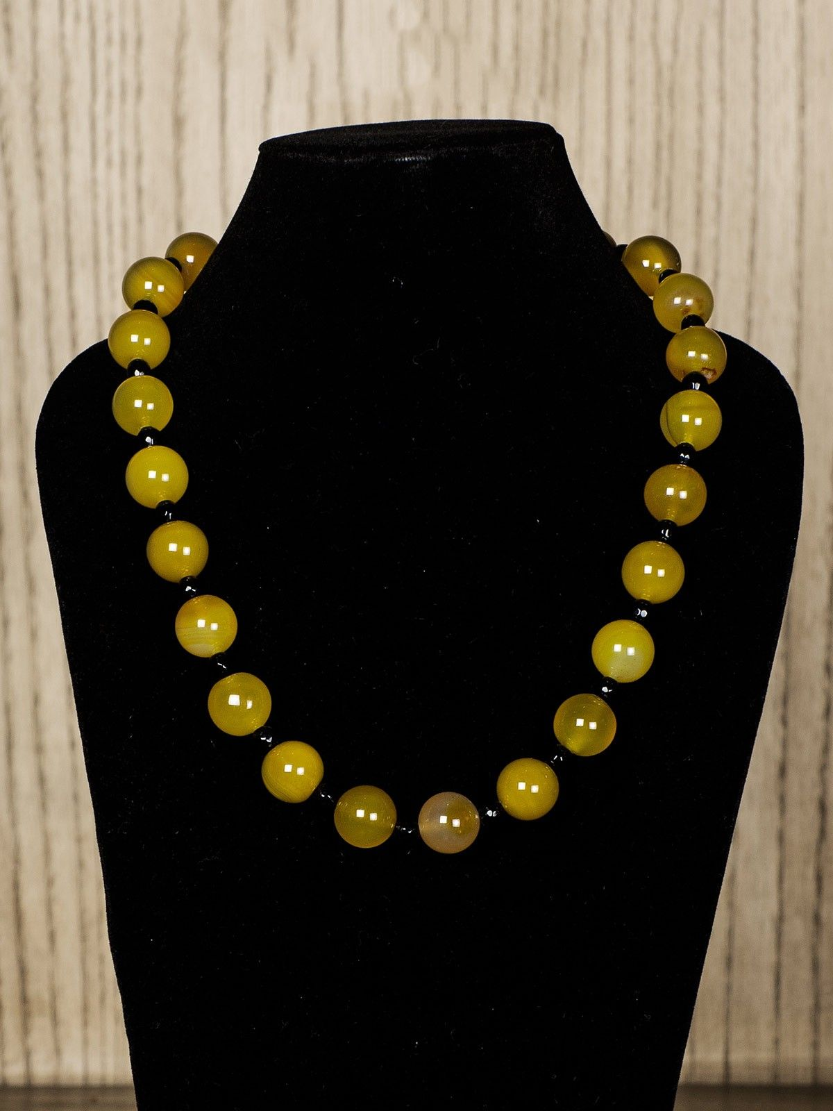 Yellow Semiprecious Stone Necklace