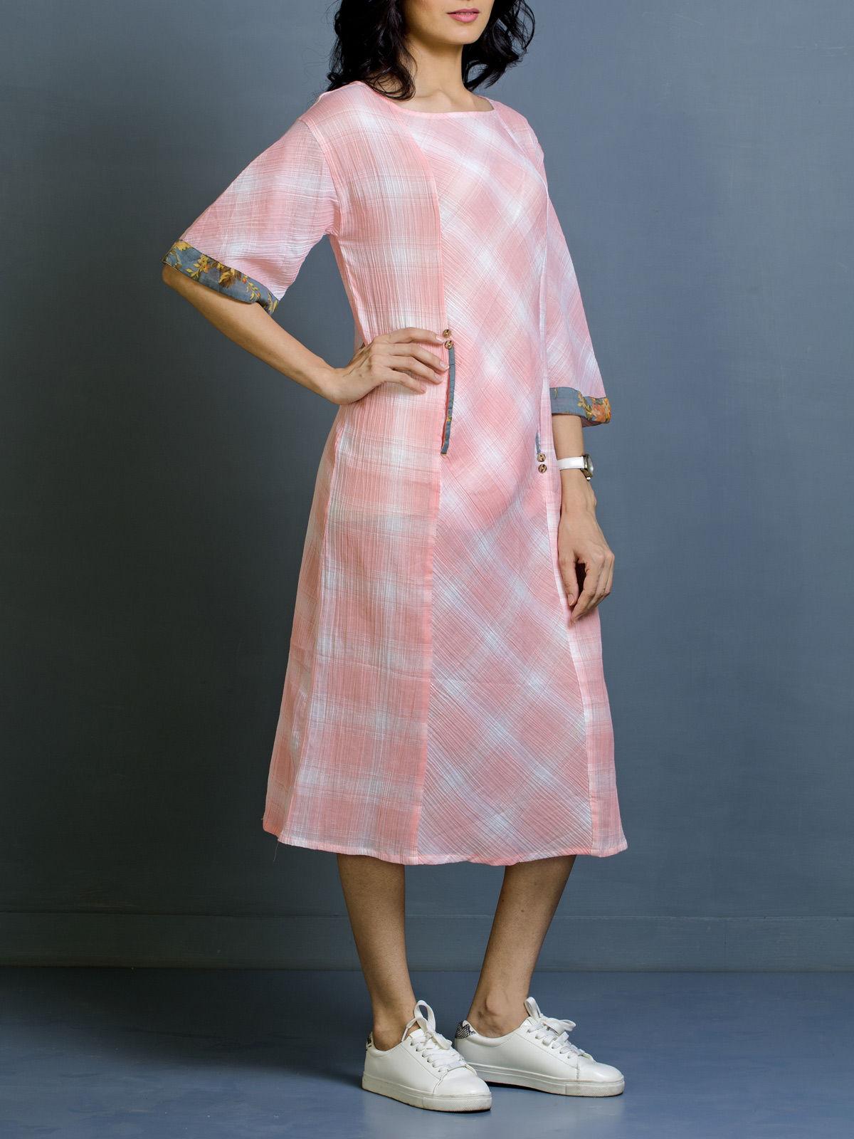 Flamingo Mist Cotton Dress