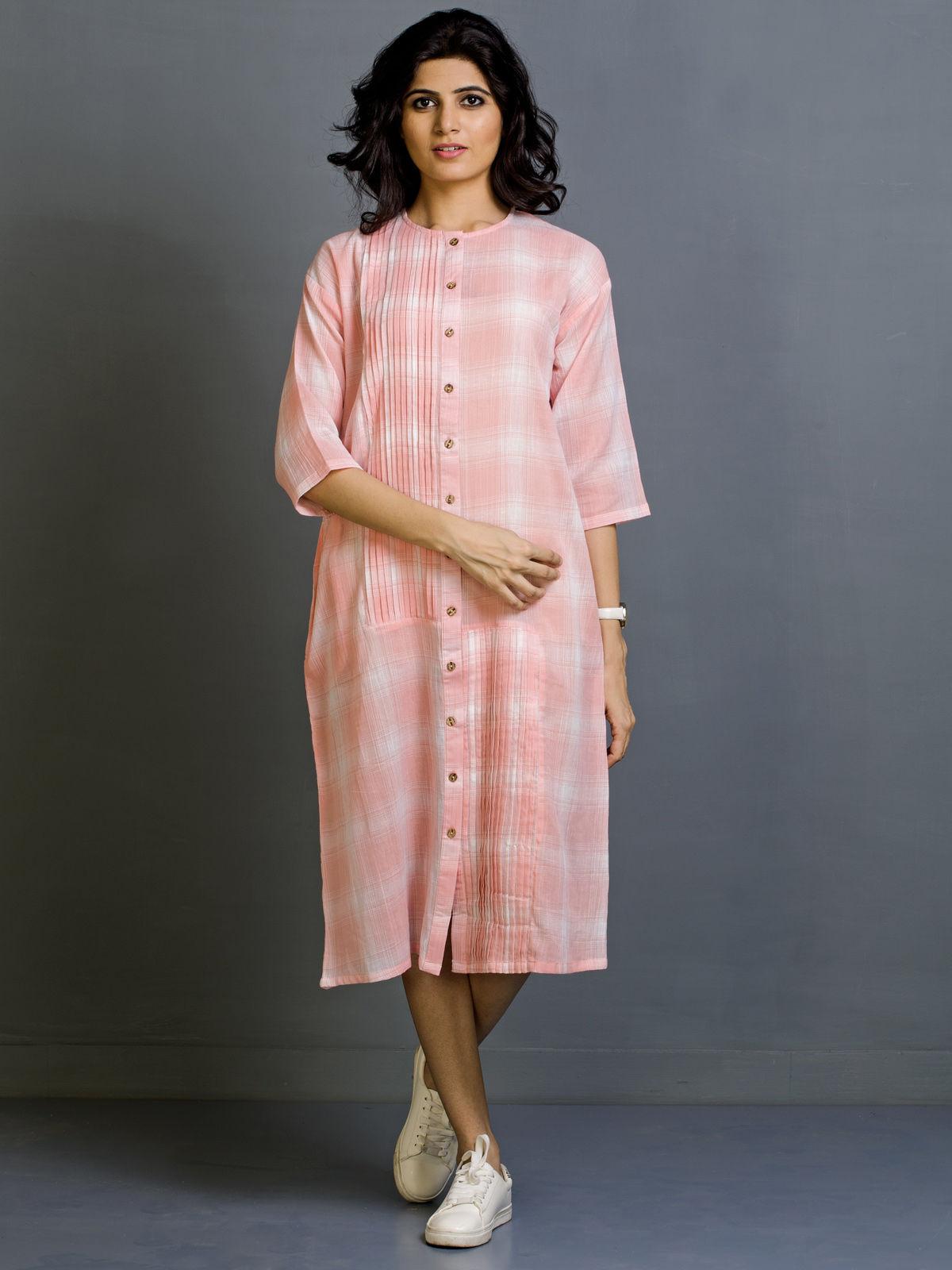 Almond Latte Cotton Shirt Dress