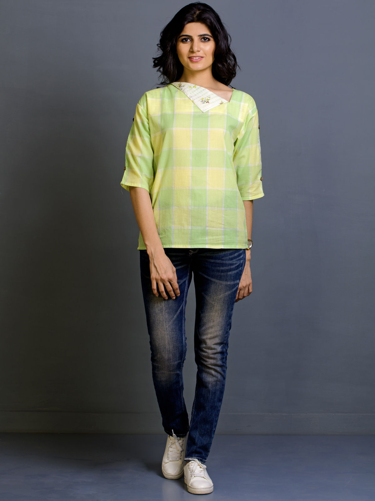 Lime Spice Cotton Top
