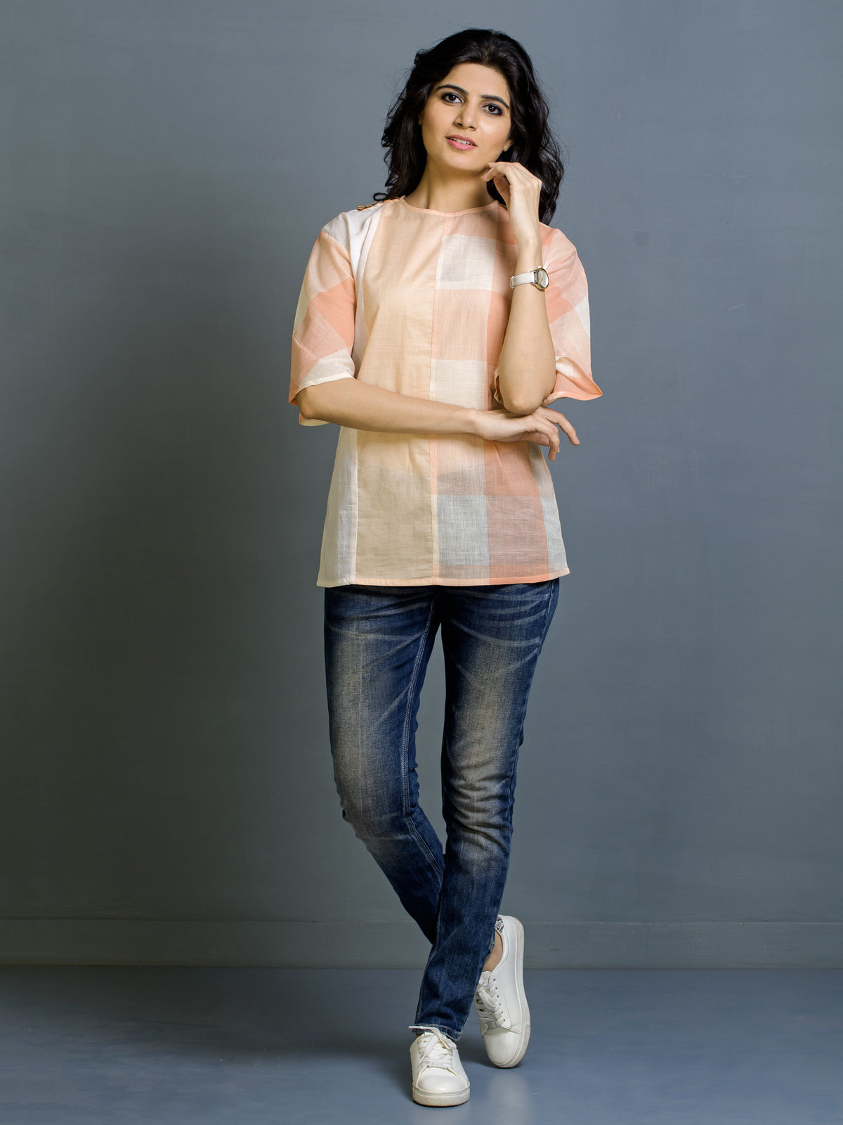 Vanilla Blush Cotton Top