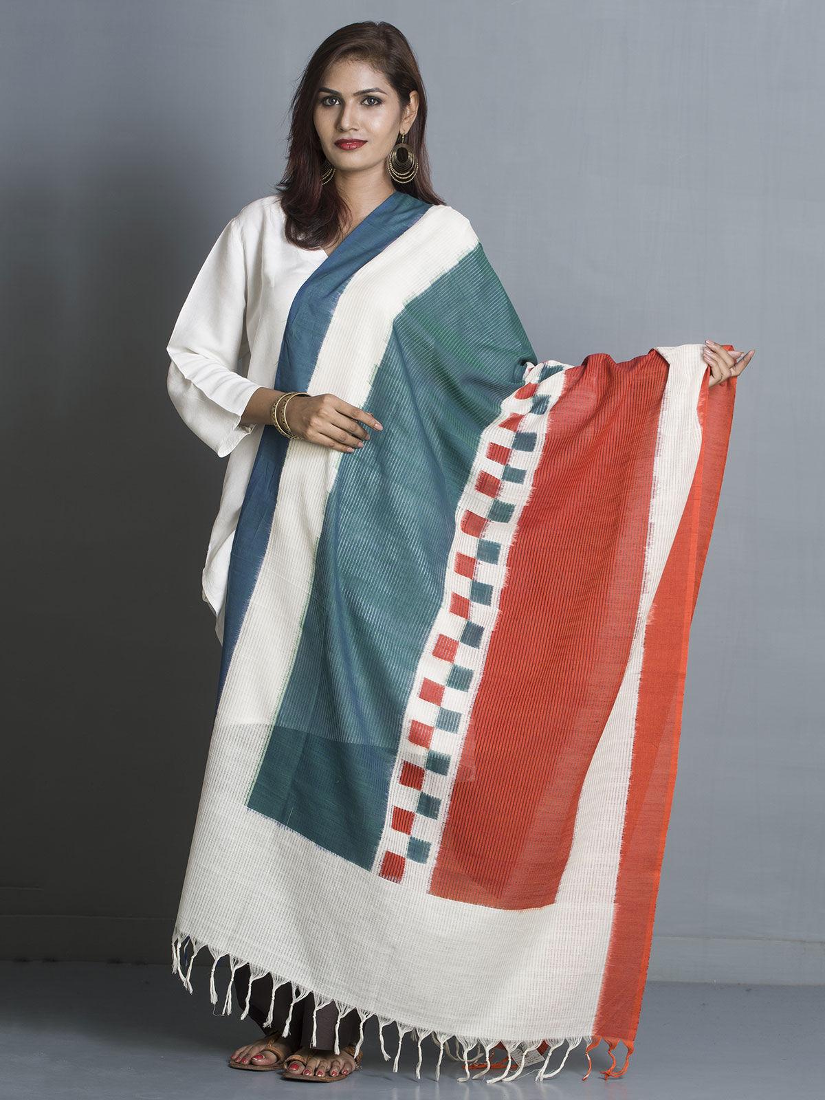 Multicolor stripes cotton dupatta
