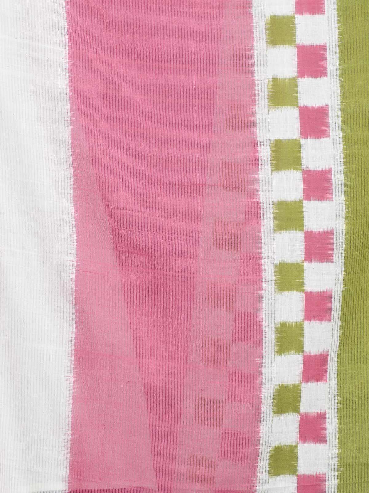 Multicolor stripes ikat cotton dupatta