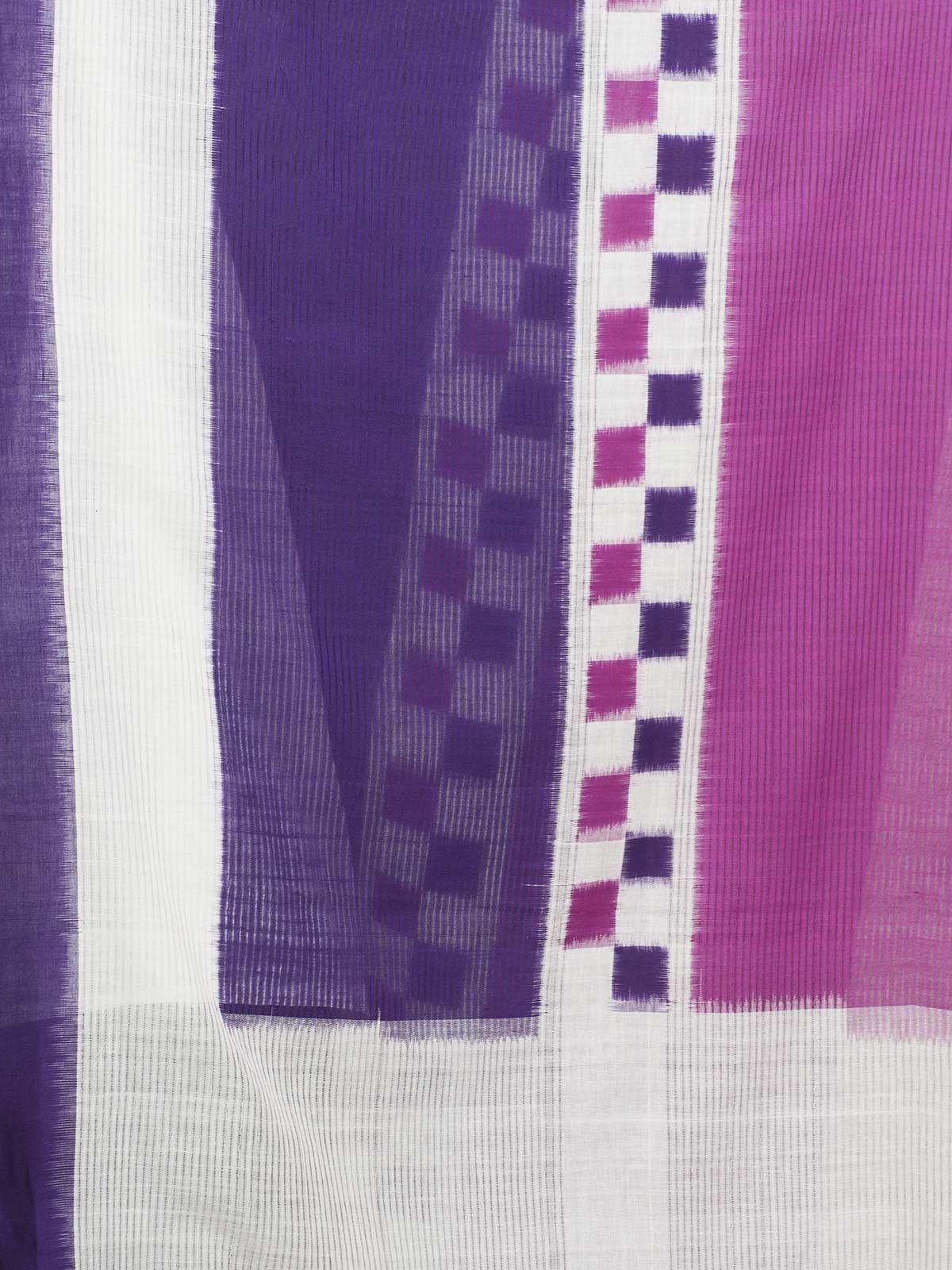 Purple pink ikat cotton dupatta