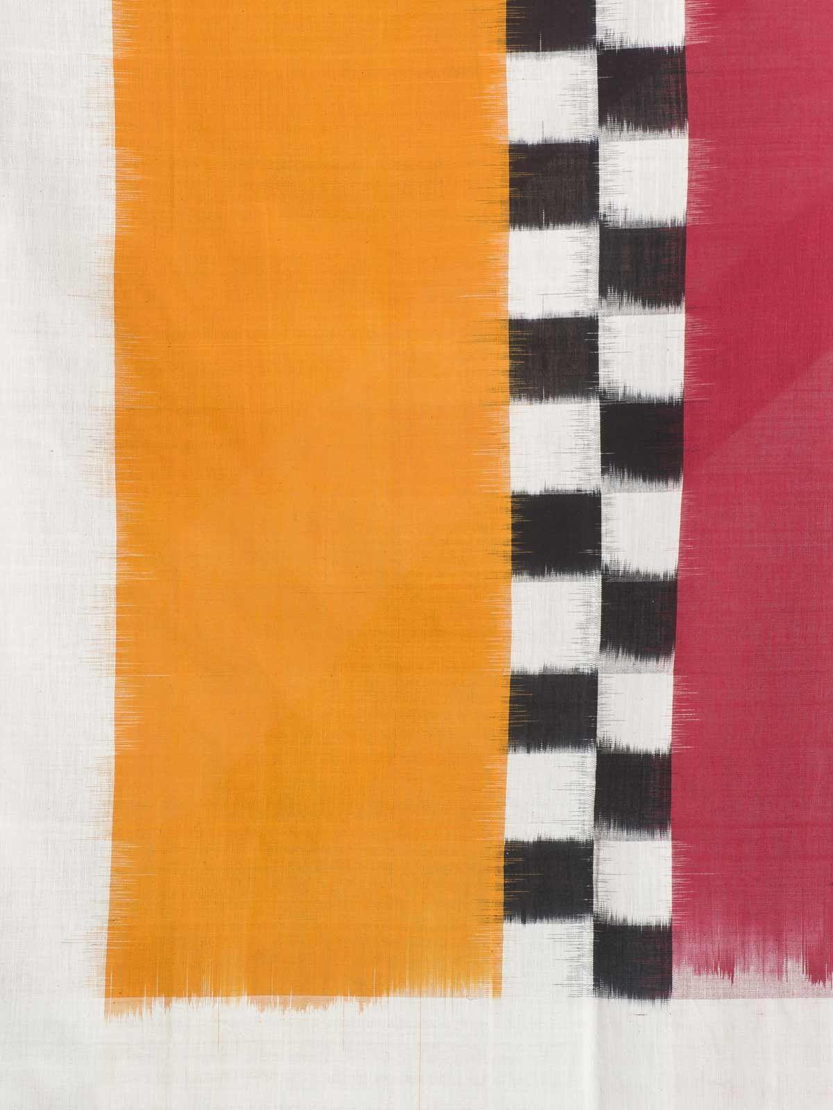 Multicolor ikat cotton dupatta