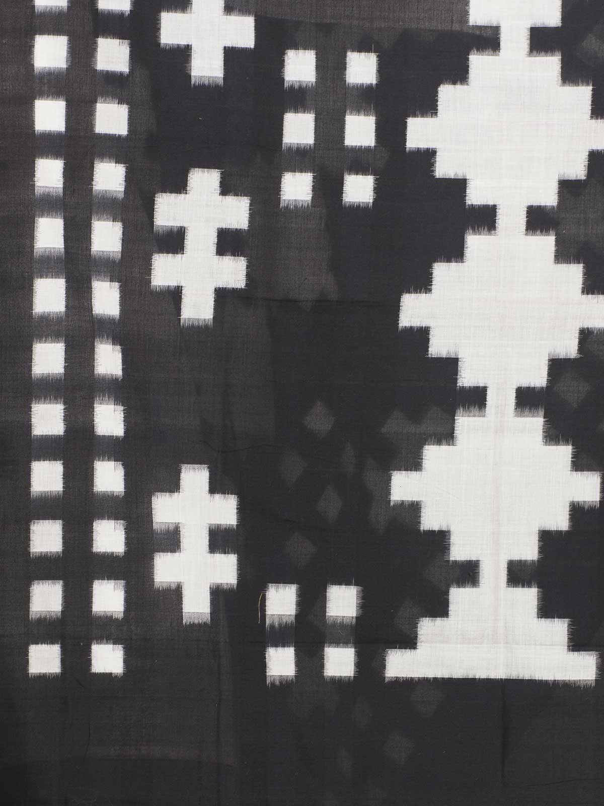 black ikat cotton dupatta