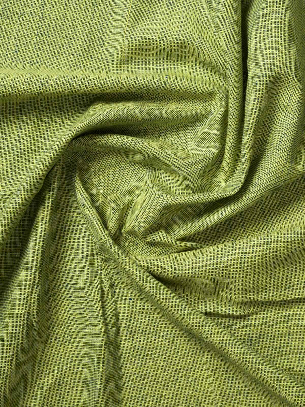 Asparagus Color Handloom Cotton Fabric