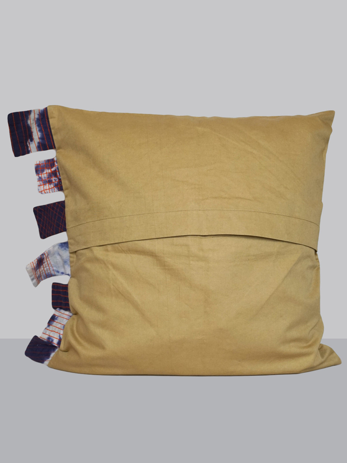 Ivory cotton-satin cushion cover