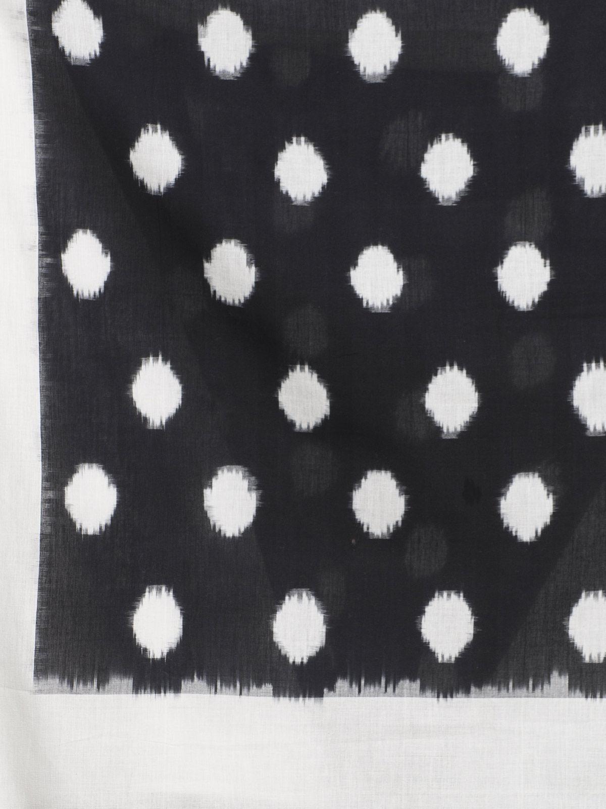 Black cotton ikat dupatta