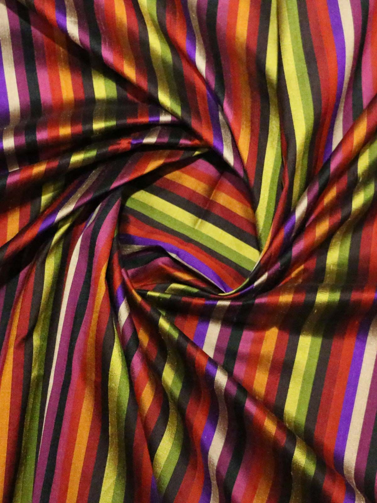 multi color raw silk fabric