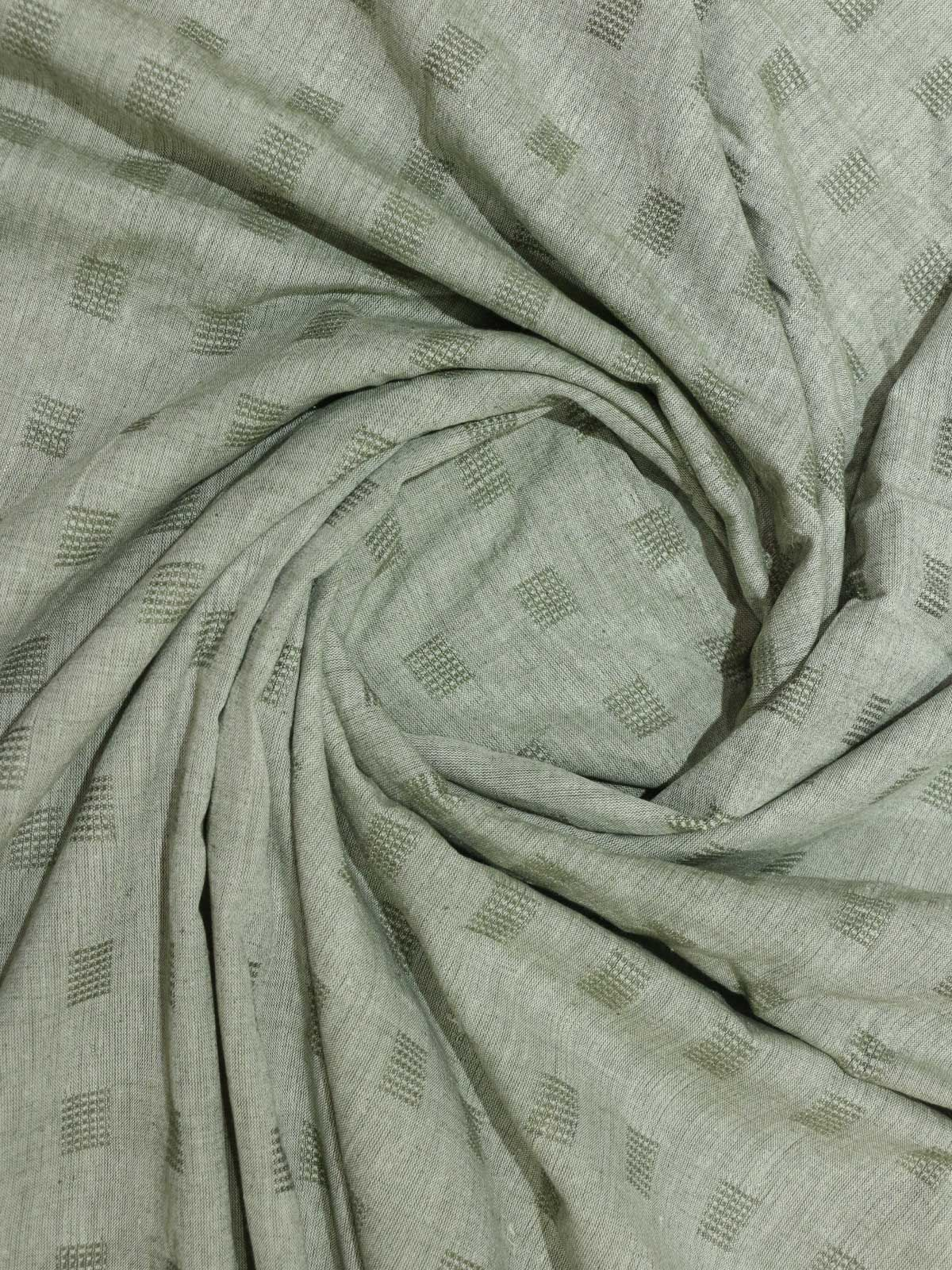 Sea Green color dobby cotton fabric