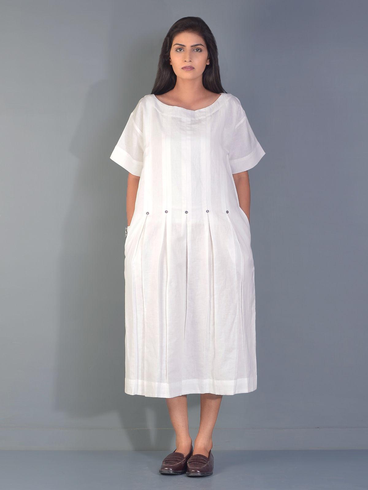 White Umbrella Linen Tunic