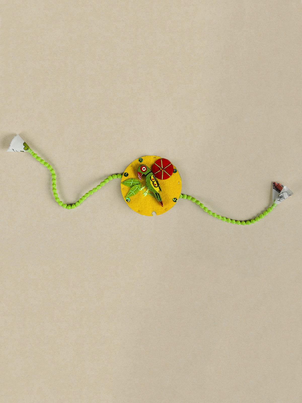 The Green Parrot Rakhi