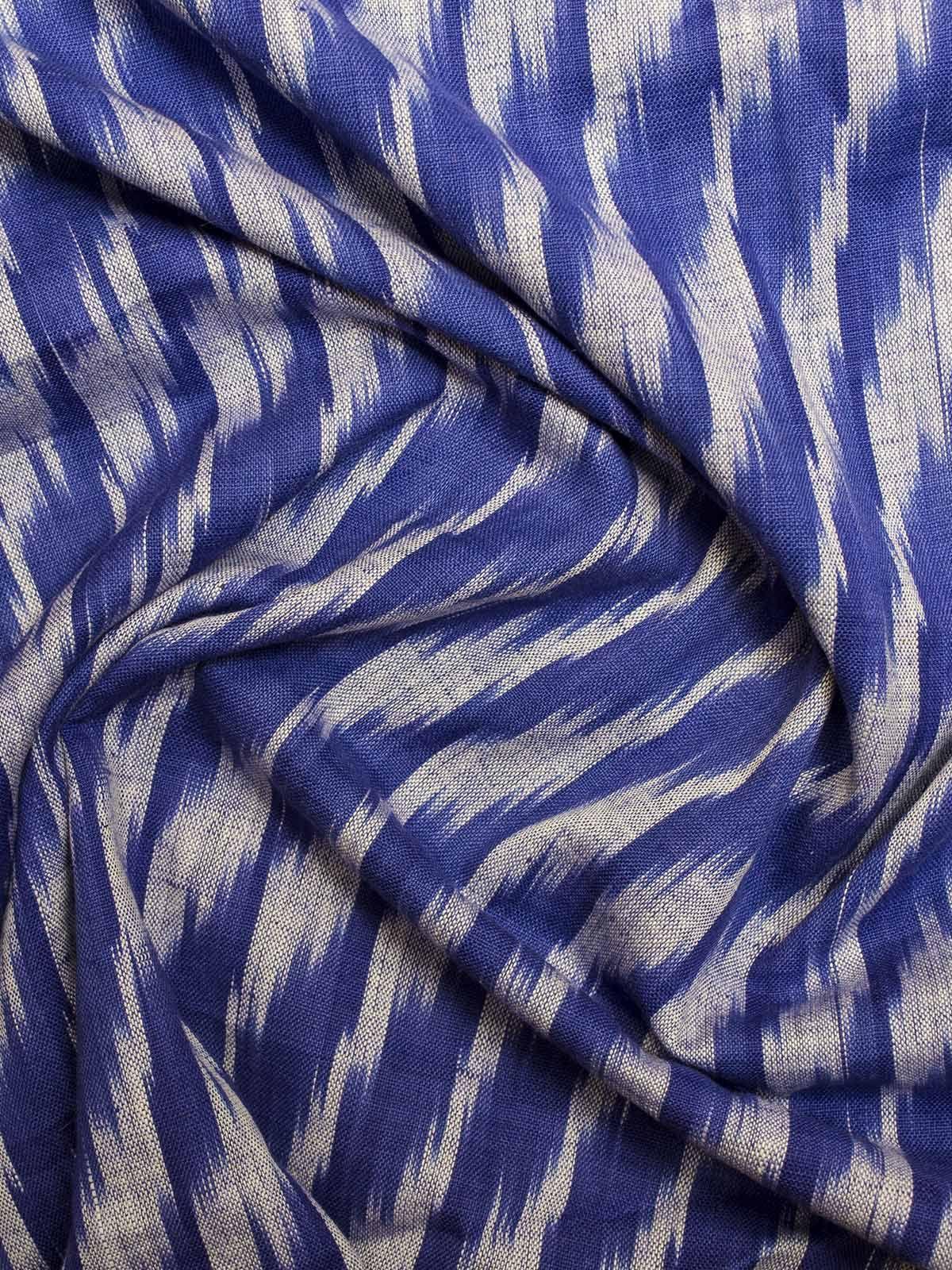 Ink Blue Ikat Cotton Fabric