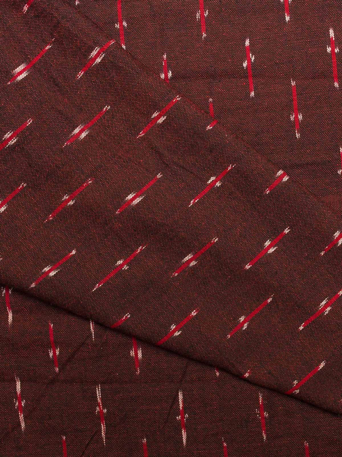 Red and Brown Ikat Cotton Fabric
