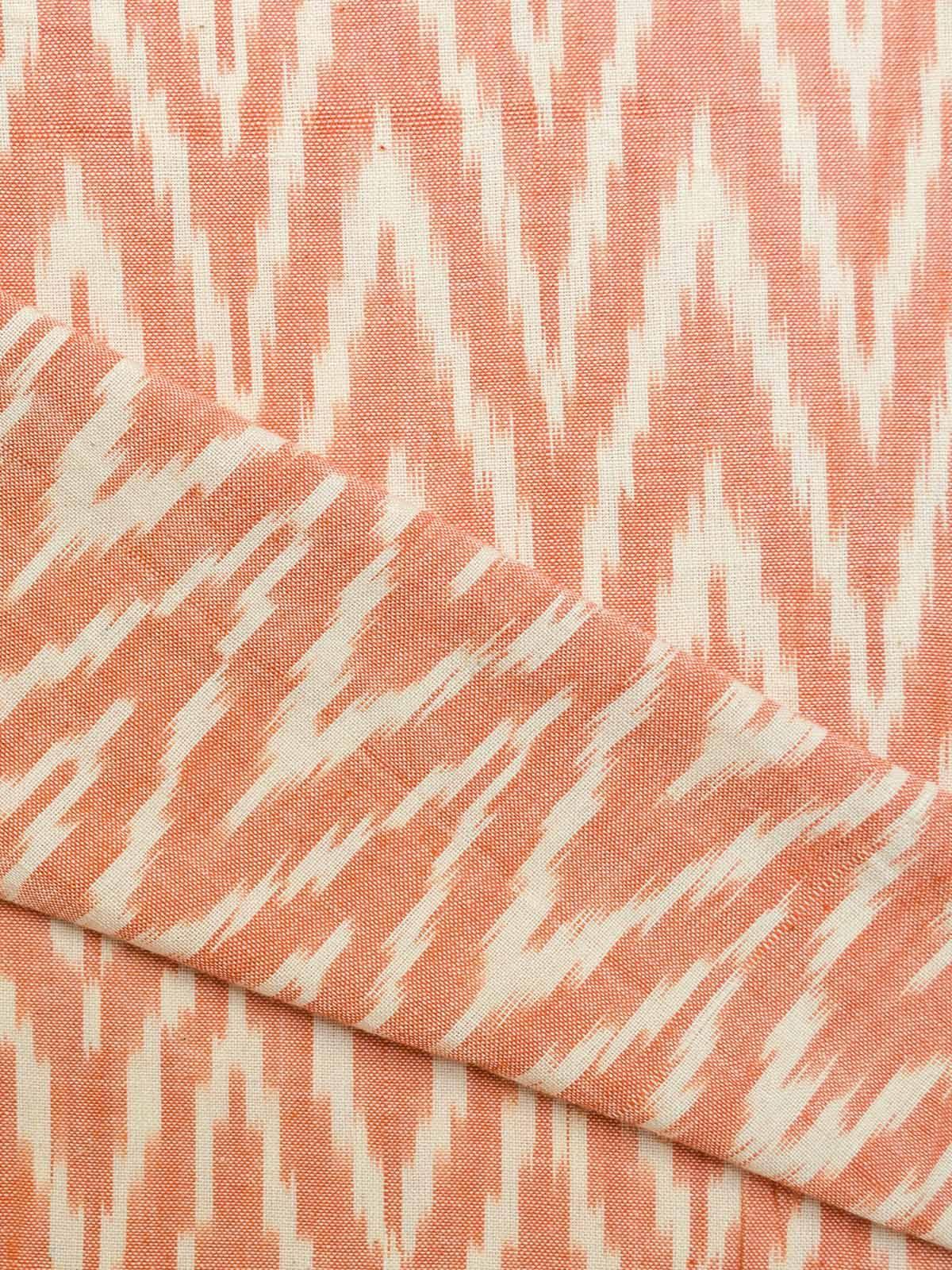 Orange Ikat Cotton Fabric