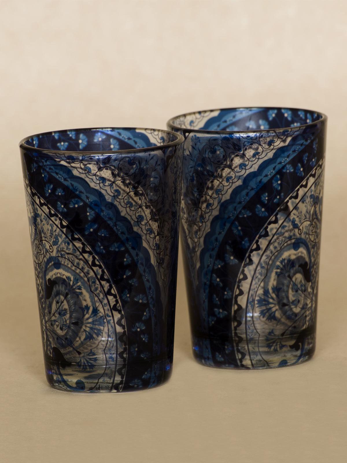 Blue Kaleidoscope shot glass