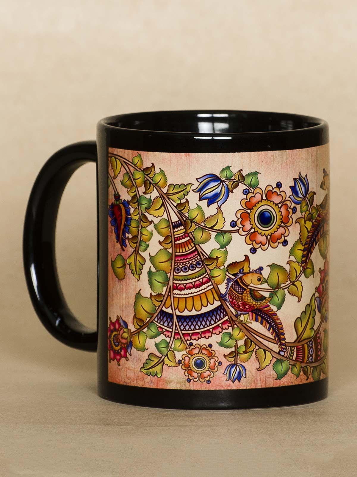 Gold Peacock mug
