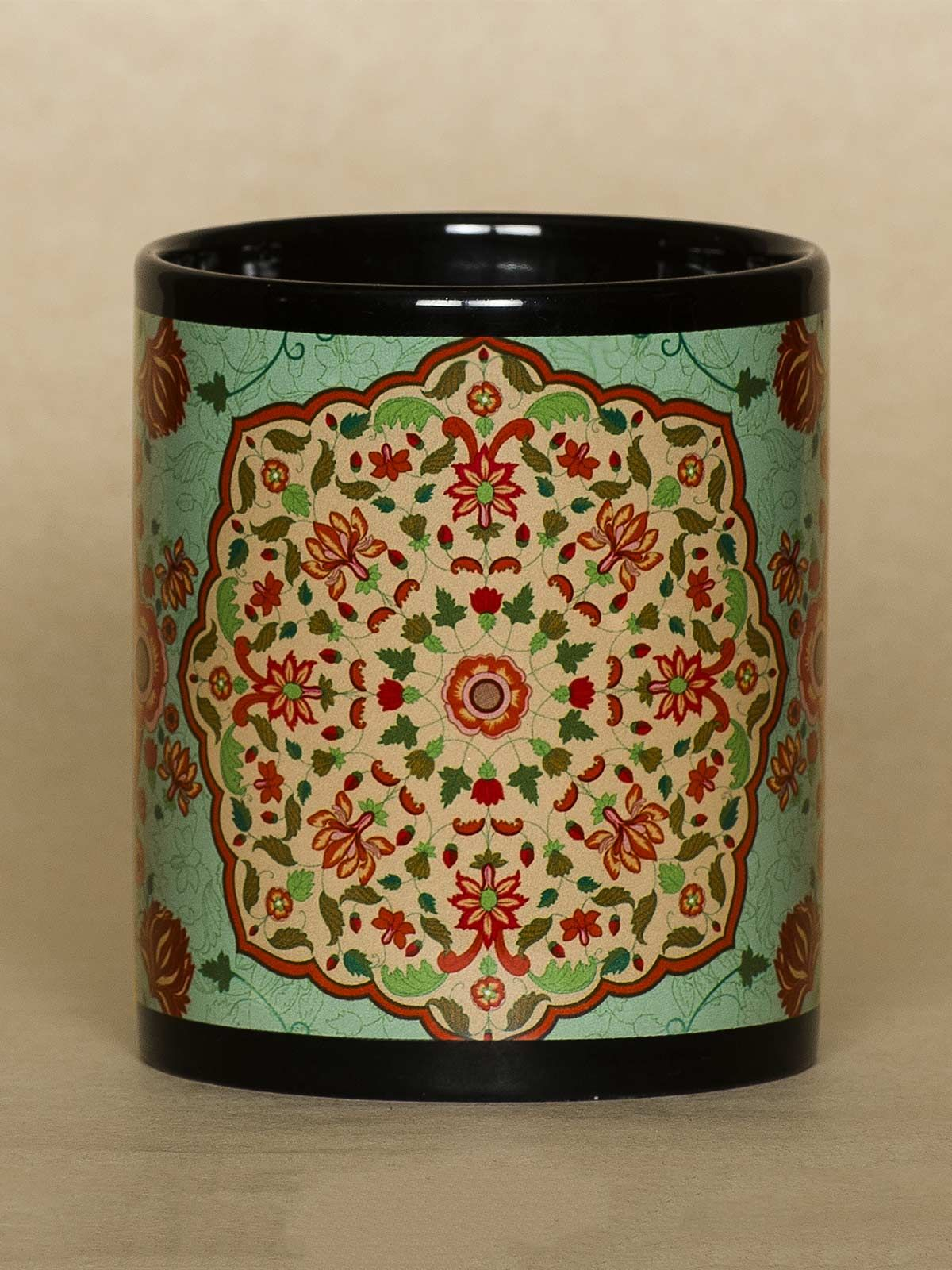 Green Kaleidoscope mug