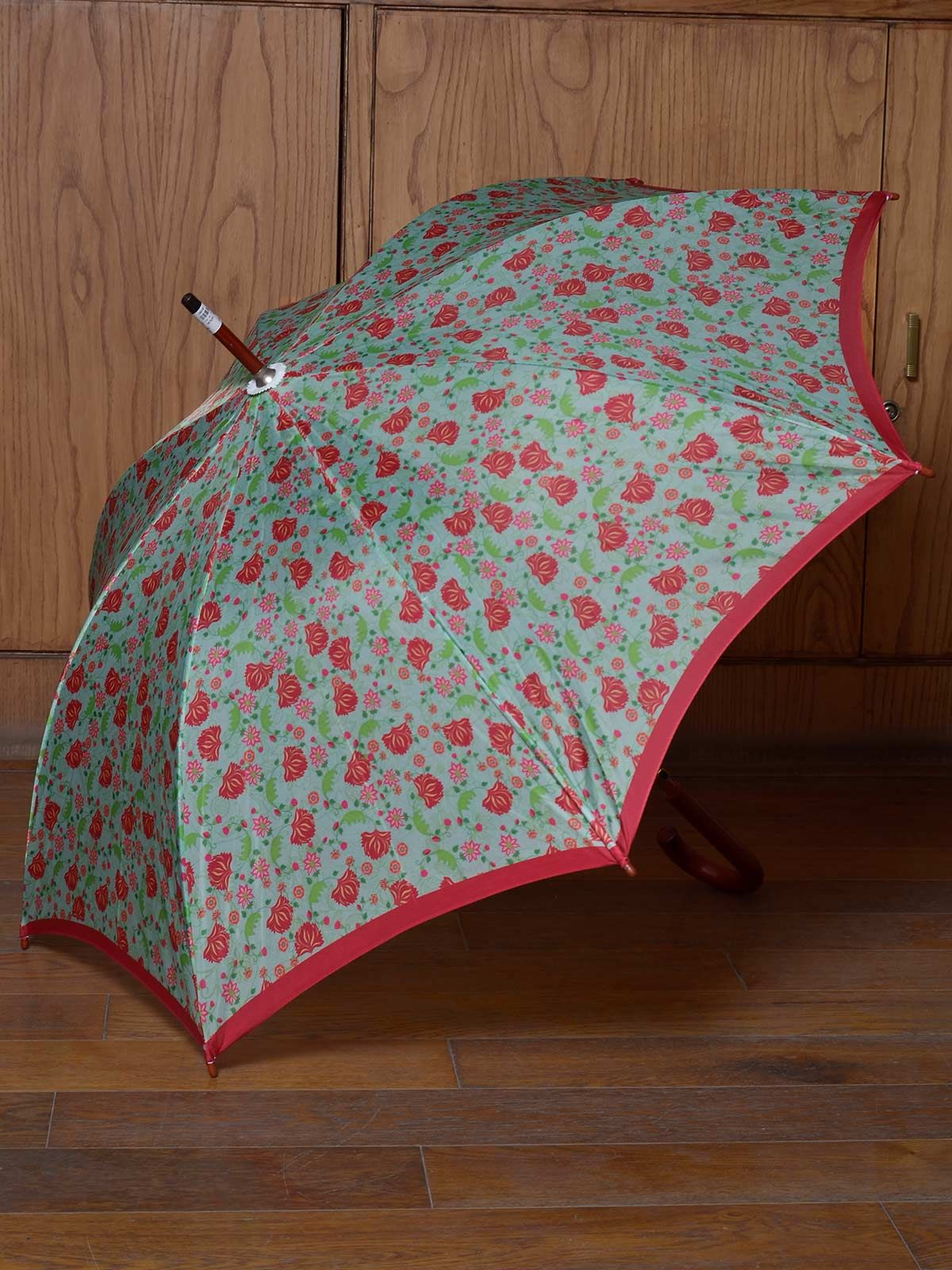 Green Floral umbrella