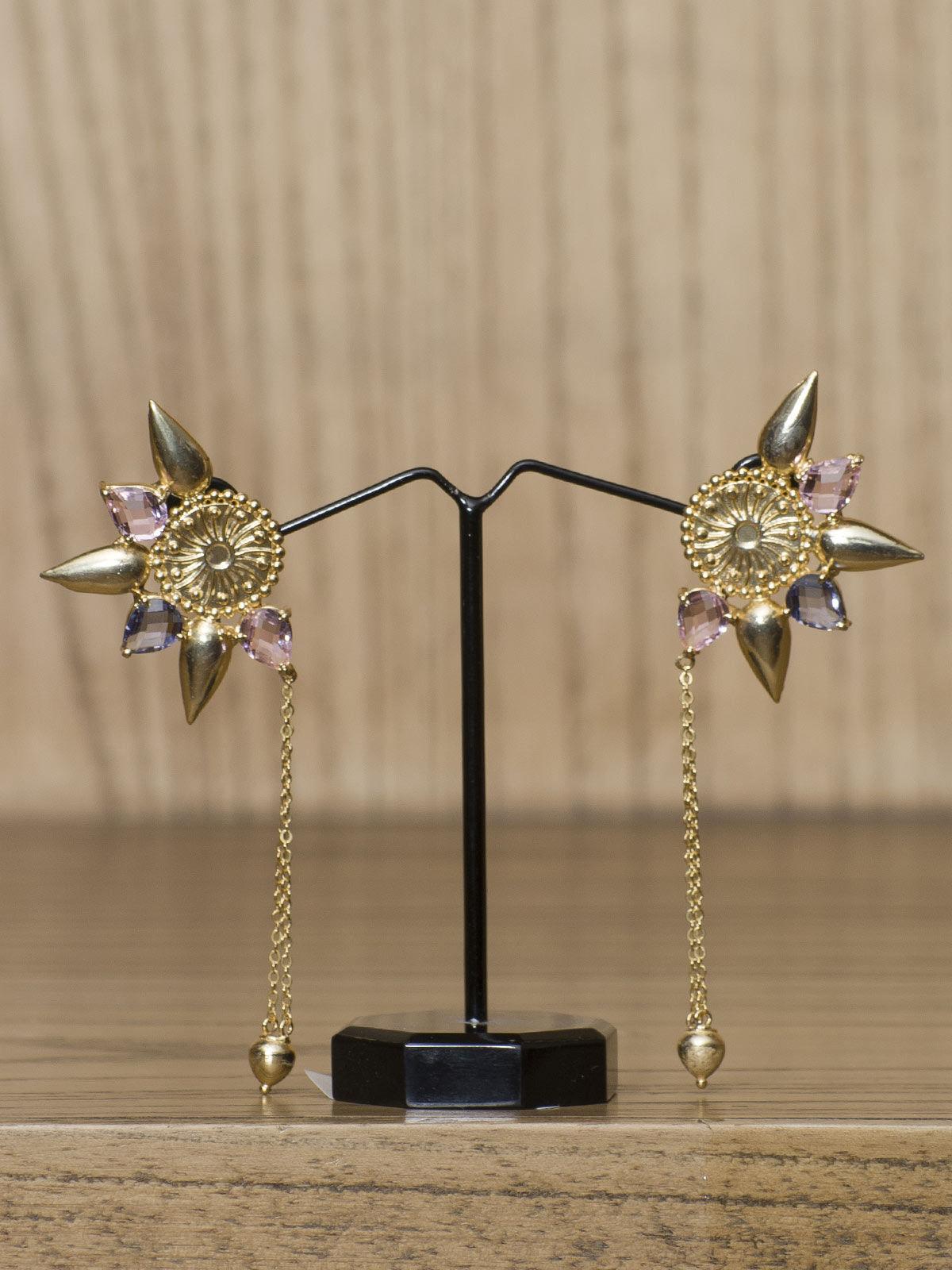 Indian August Golden semi-precious metal Ear Cuff