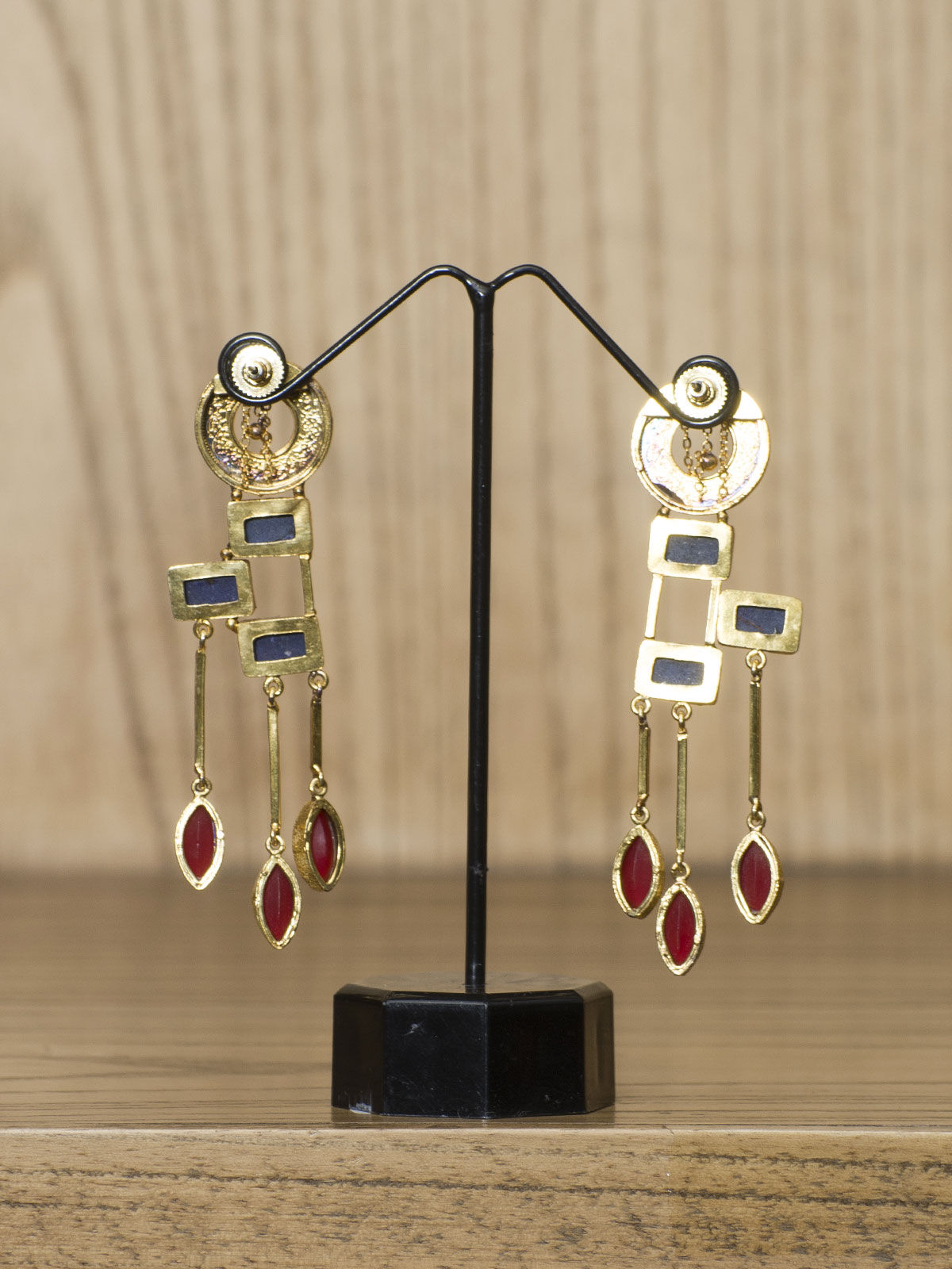 Indian August Golden semi-precious Ear Cuff  with studded stones