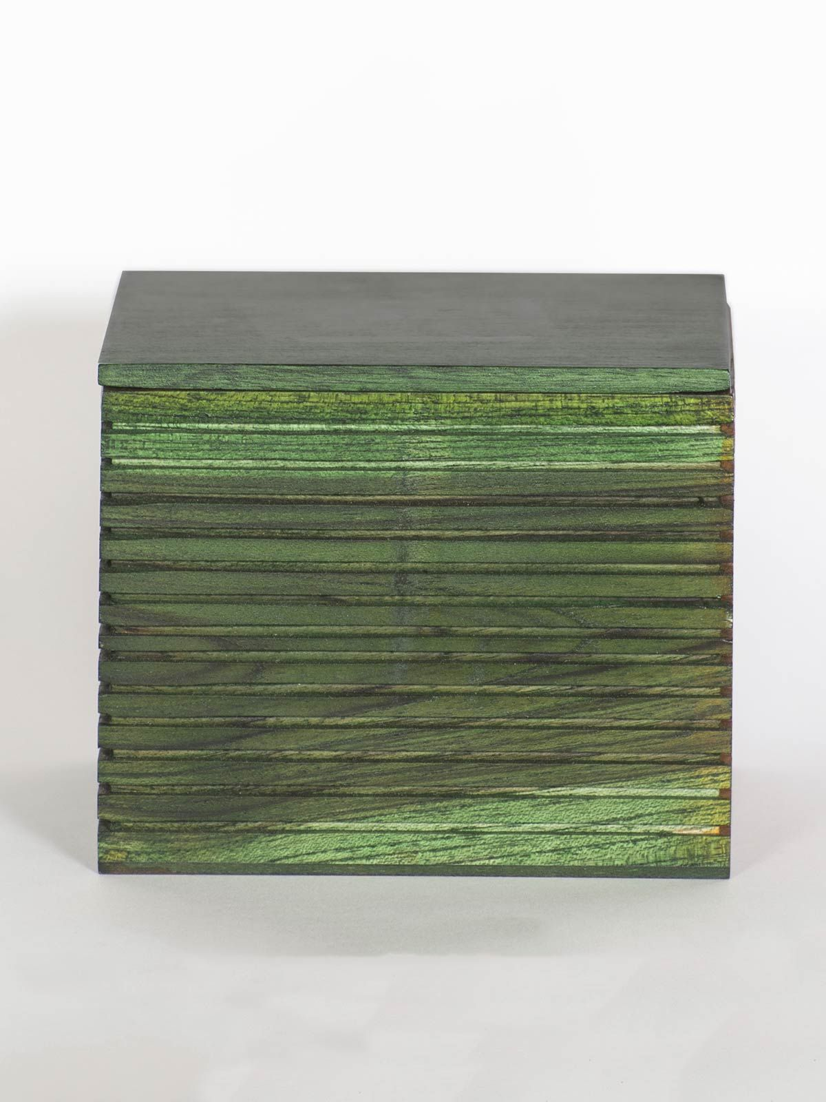 Green Wooden Box with Lid