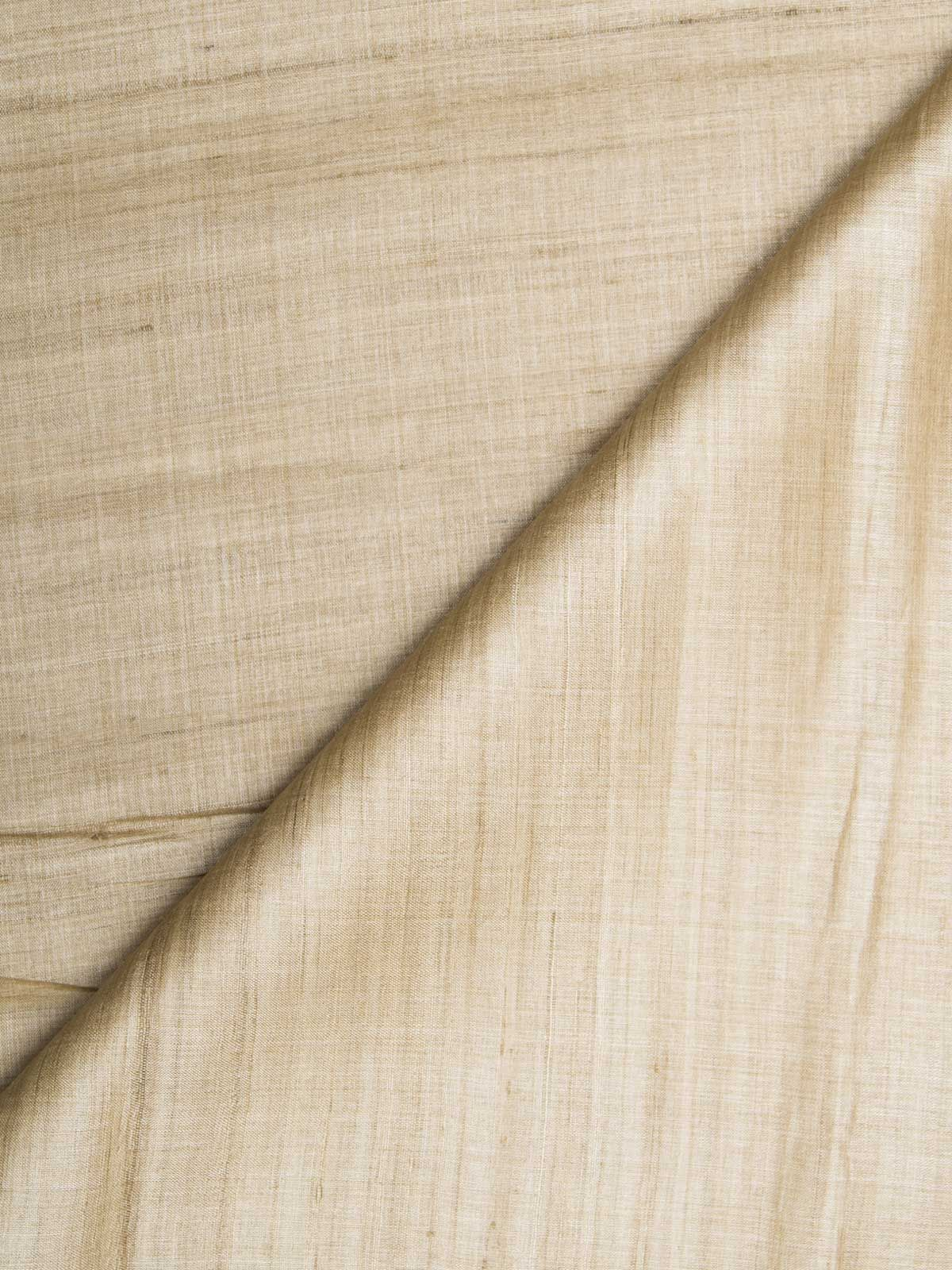 Light brown color tussar silk fabric