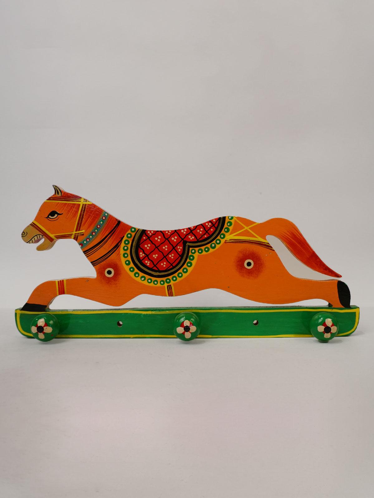 Horse Design Wooden Key  Holder