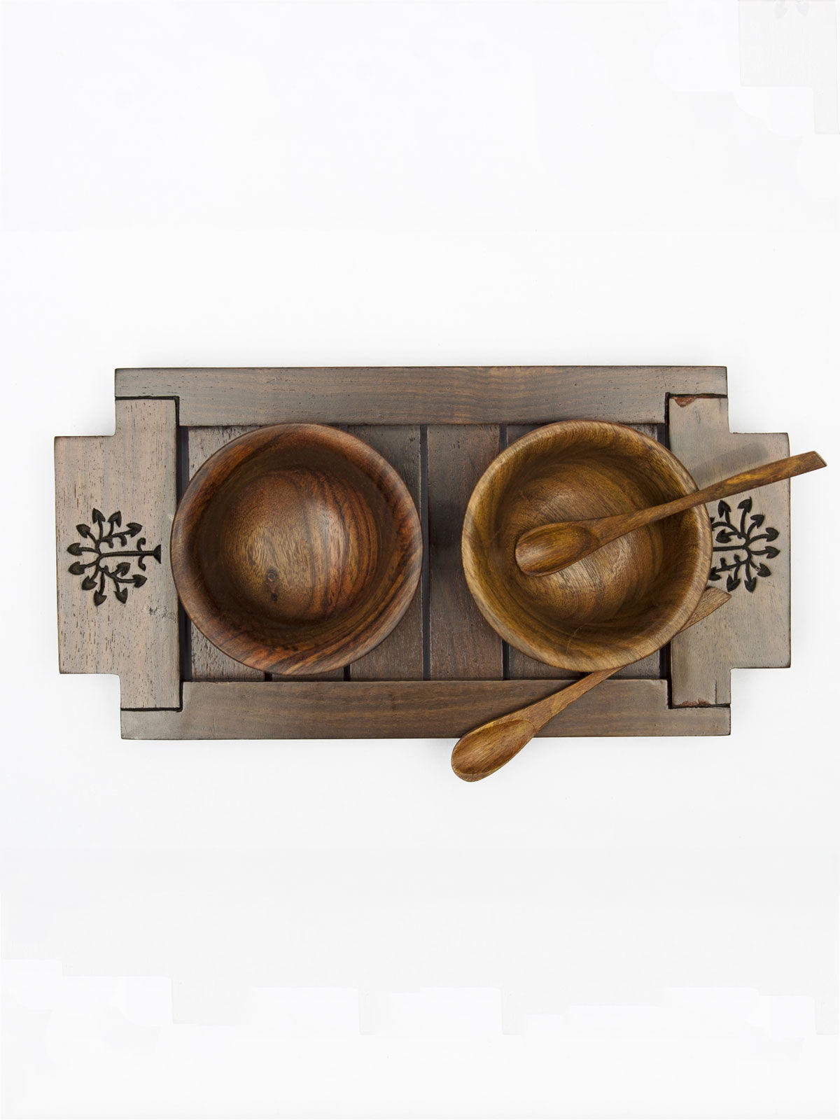 Carved Tray with bowls