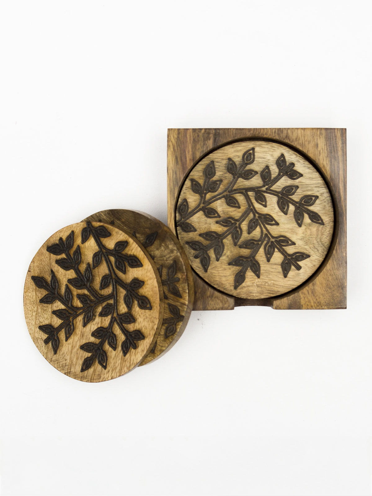 Floral Design Coasters in stand