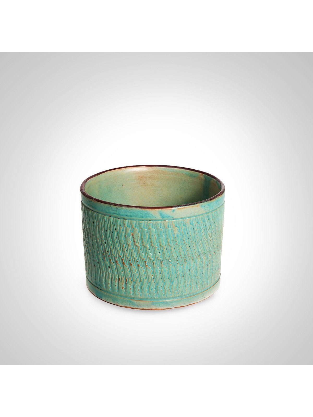 Green foliate ceramic keeper