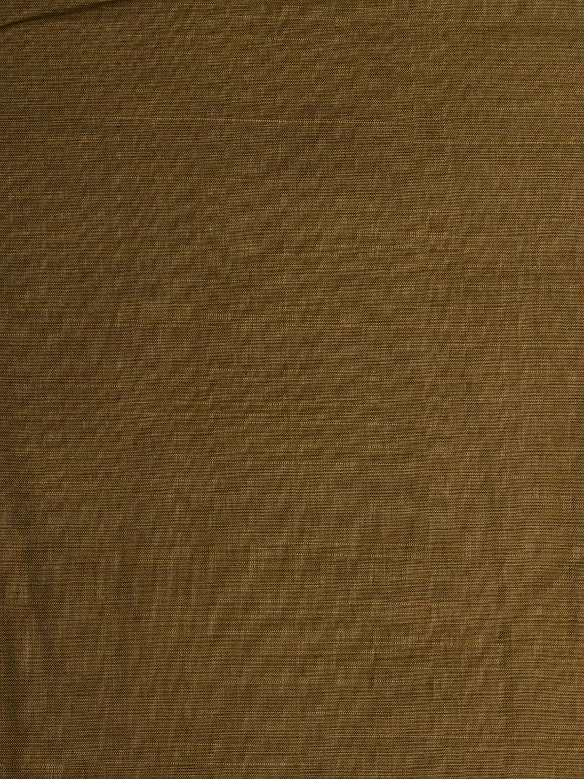Drak olive cotton silk fabric