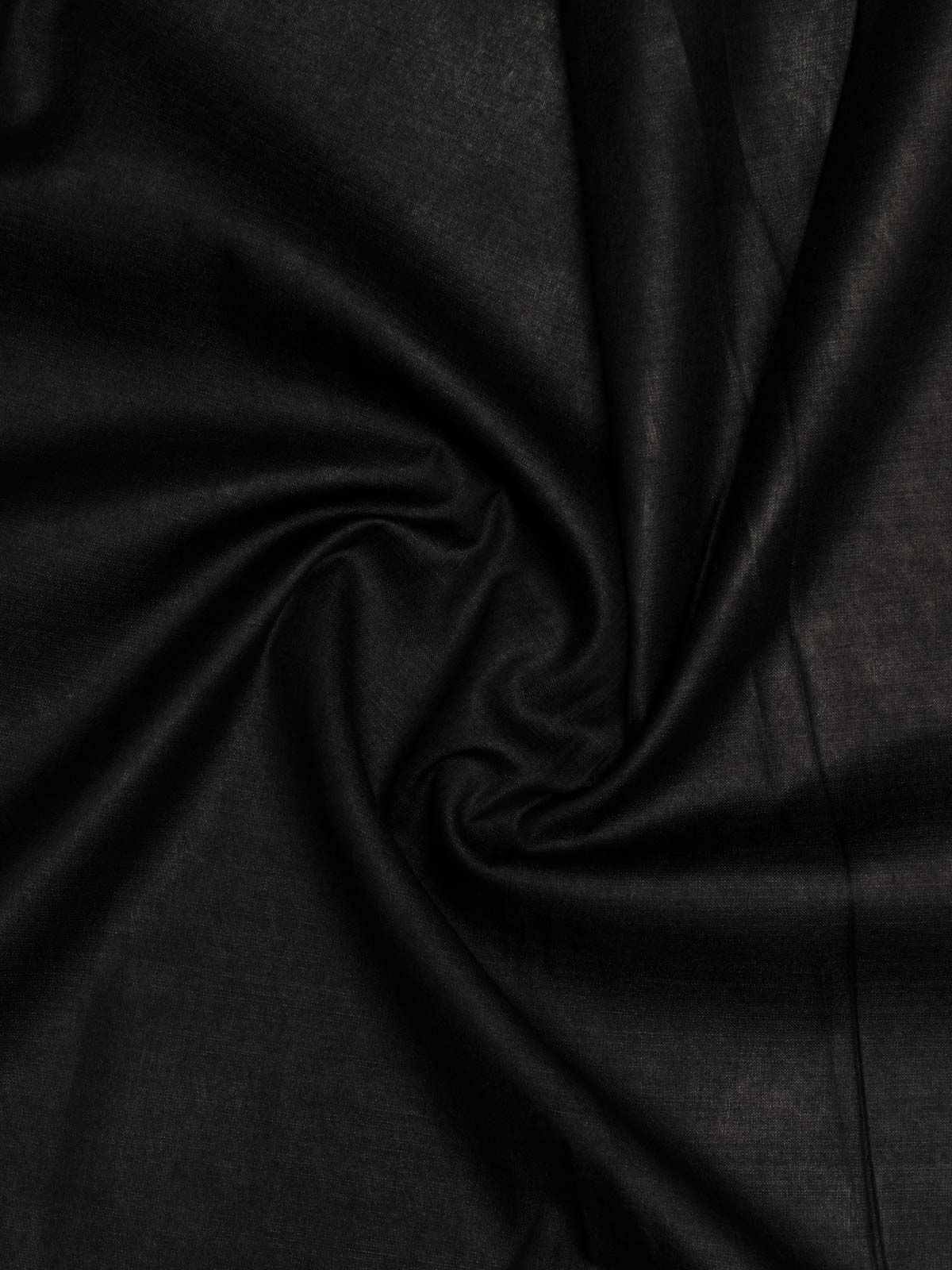 Black color cotton silk fabric