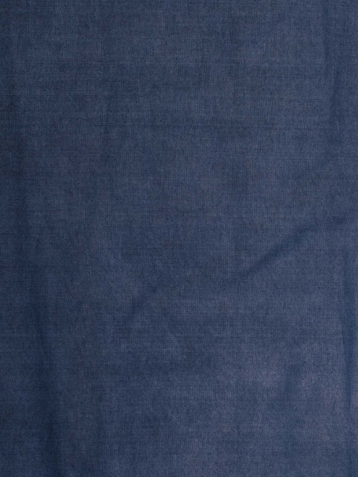 Denim color cotton silk fabric