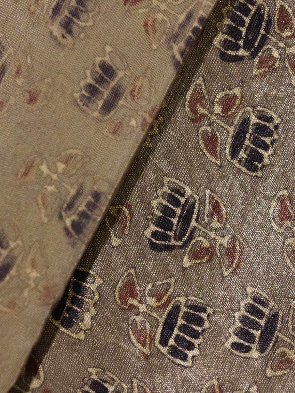Sand color handblock printed mushroo cotton fabric