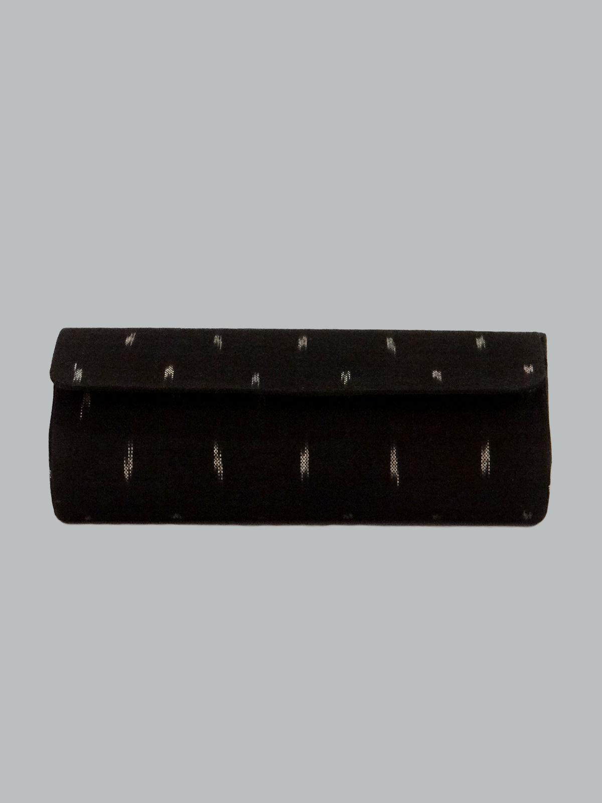 Black ikat cotton goggle case