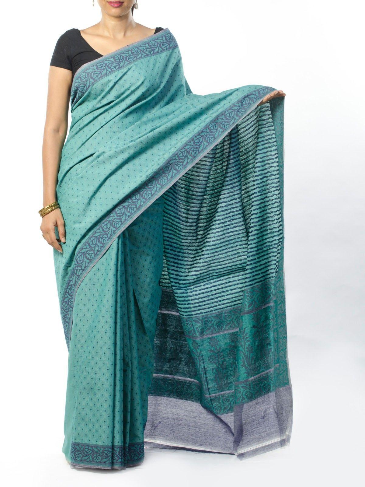 Blue Jamdani Saree