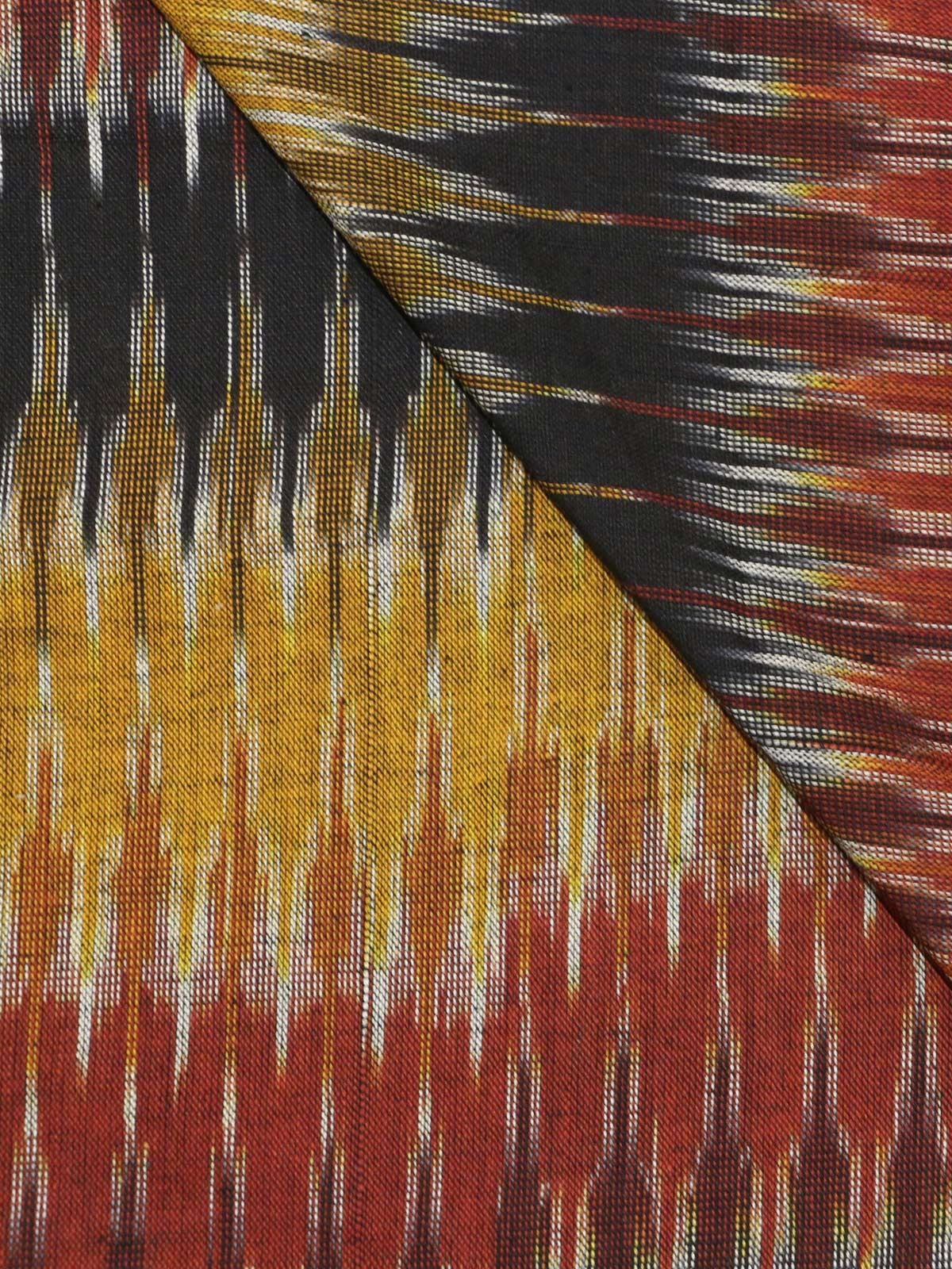 Multicolor ikat handloom cotton fabric