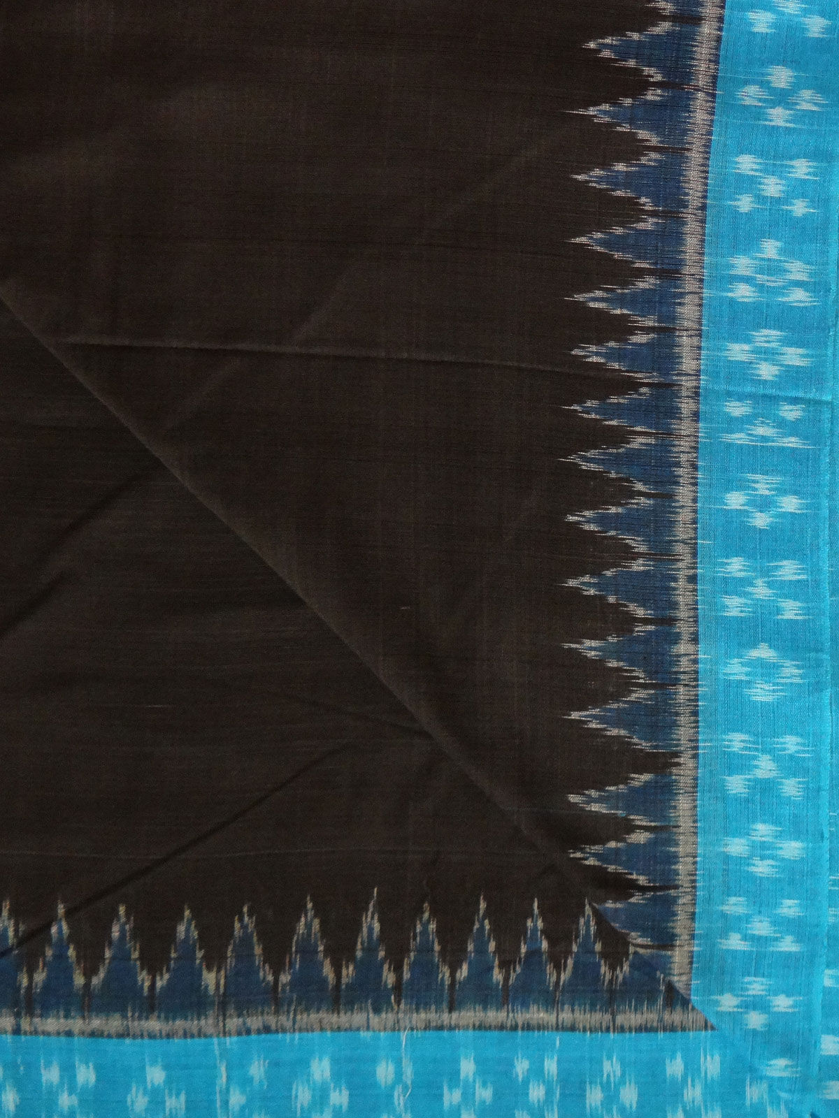 IKAT BLUE BLACK FABRIC